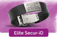 Elite Secur-ID Notfallarmband breit mit Schliesse